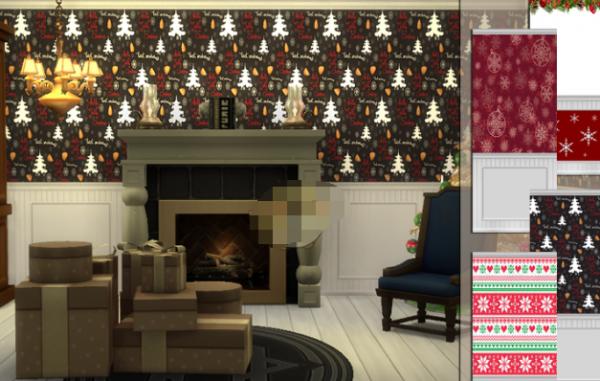 模拟人生4美丽圣诞墙补丁下载_模拟人生4美丽圣诞墙MOD